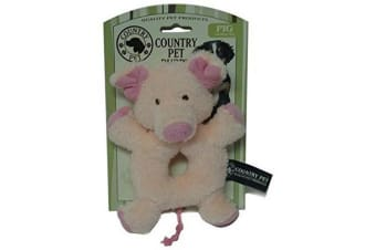 Country Pet Puppy Toy (Pig) (One Size)