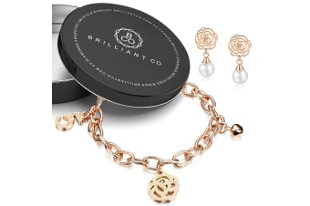 2pc Rose Gold Layered Jewellery Gift Set