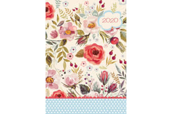 Vintage Blooms 2020 Premium Floral Diary Planner A5 Padded Cover Christmas Gift