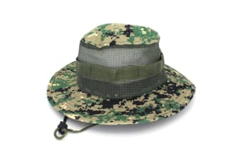 Outdoor Fishing Wide Caps, Canvas Boonie Hunting Fishing Caps DigitalGreen