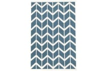 Fantasy Firefly Beautiful Blue Chevron Handmade Wool Rug