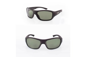 Grey Evo Glass Lense Fishing Sunglasses with Black Frame - Polarised Sunnies