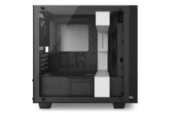 NZXT H400i Premium Micro-Tower Case - Tempered Glass, Build-in CAM, White/Black