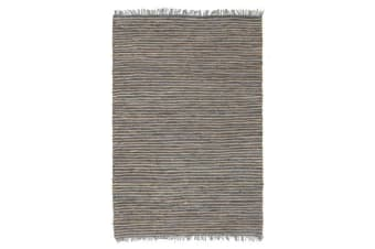 Bondi Leather and Jute Rug Grey 320x230cm