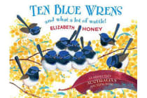 Ten Blue Wrens - And What a Lot of Wattle!