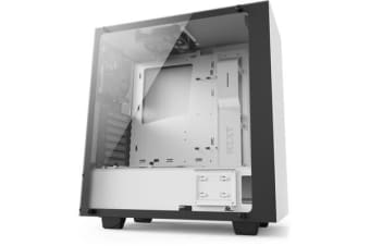 NZXT S340 Elite Compact Mid Tower Case - With Tempered Glass Windows matte white
