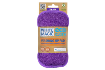 White Magic Microfibre Washing Up Pad - Grape