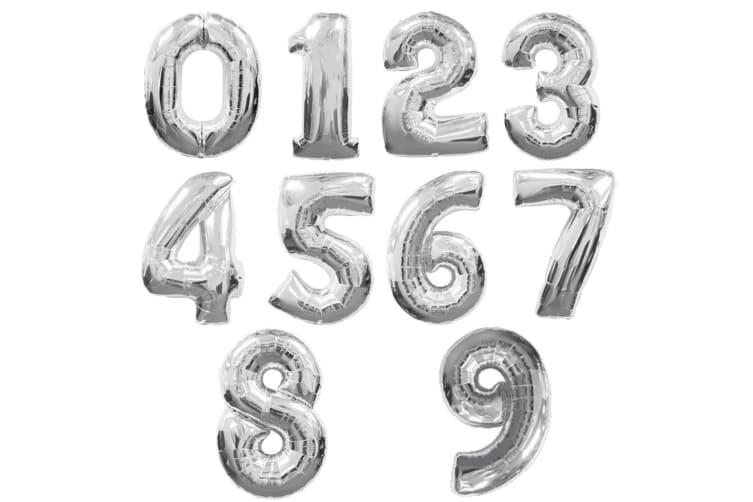 Amscan Supershape Silver Number Balloons (Silver) (0)