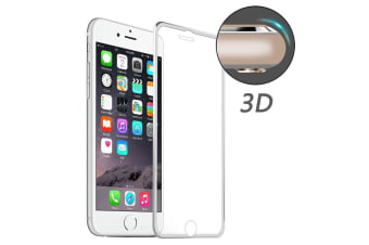 For iPhone 8 7 Screen Protector High-Quality 3D Tempered Glass Cover Silver