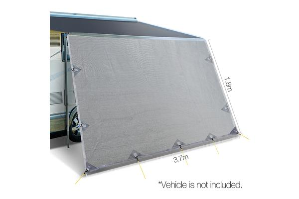 Caravan Roll Out Awning 3.7 x 1.8M (Grey)