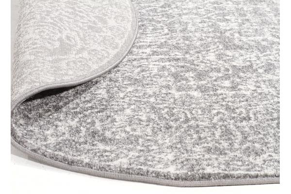 Homage Grey Transitional Rug 150x150cm