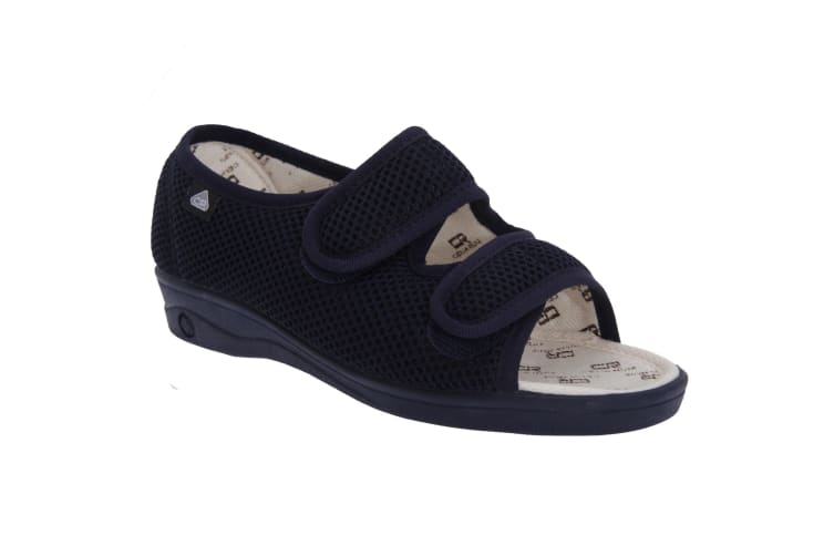 Celia Ruiz Womens/Ladies Touch Fastening X Wide Dual Fitting Sandals (Navy Blue) (38 EUR)