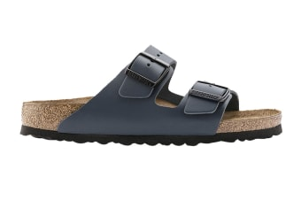 Birkenstock Unisex Arizona Leather Narrow-Fit Sandal (Blue)