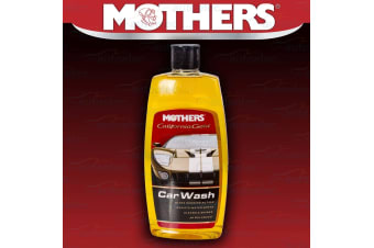 MOTHERS CALIFORNIA GOLD CAR WASH SHAMPOO CLEANER PAINT ANTI WATER SPOTTING 473ML