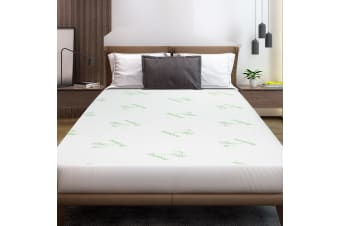 Giselle Bedding Mattress Protector Double Bamboo Fibre Waterproof Fully Fitted Bed Pad Cover Bedding