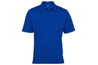 Adidas Golf Climalite Mens Heather Polo Shirt (Cobalt Heather/White) (XS)