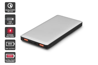 Kogan 10000mAh 18W PD Power Bank (Space Grey)
