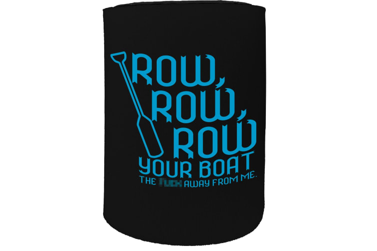 123t Stubby Holder - OB Row Your Boat Funny SAILING - Funny Novelty