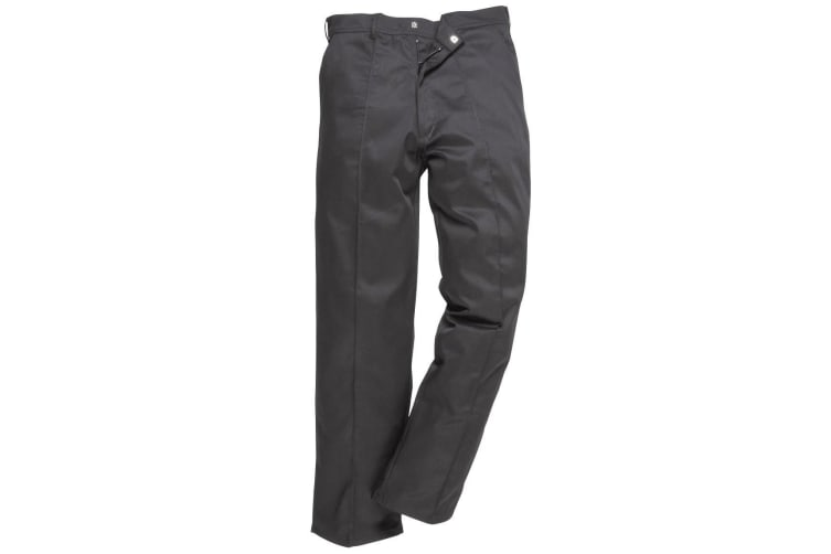 Portwest Mens Preston Workwear Trousers (2885) / Pants (Black) (46 x Regular)