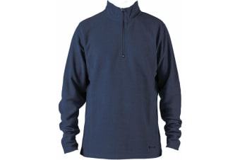 Elude Men's Snow 1/4 Zip Microfleece Midlayer Size L
