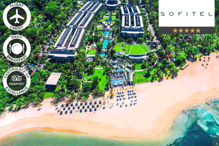 BALI: 5 Nights at Sofitel Nusa Dua Including Flight Credit for Two (Luxury Room)