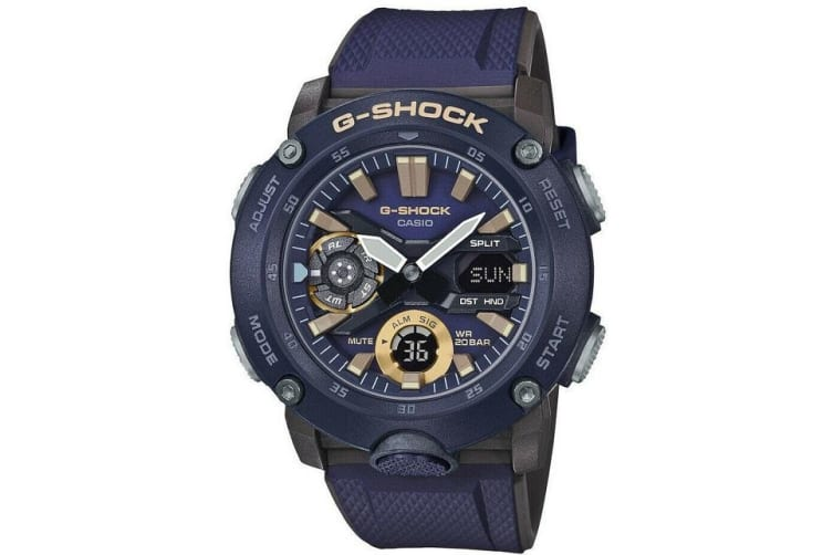 Casio G-Shock Analogue/Digital Carbon Core Guard Blue Men's Watch GA2000-2A GA-2000-2A
