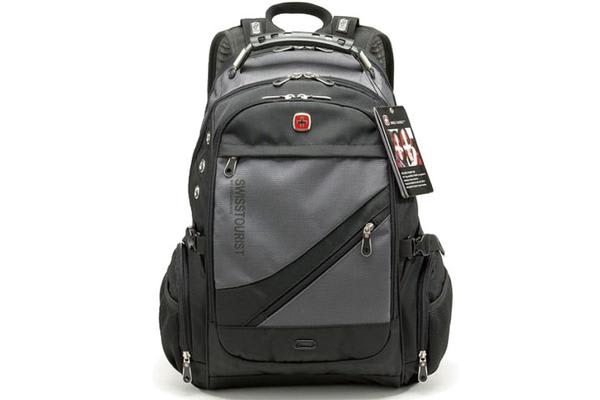 "Wenger Swissgear 15.6"" Laptop Backpack Bag W/ Mp3 Headphone Connection Sa1418 Grey"