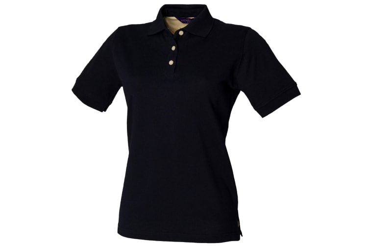 Henbury Womens/Ladies Classic Polo Shirt (Navy) (M)