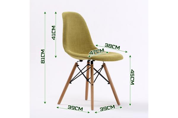 Replica Eames DSW Dining Chair - GREEN X4