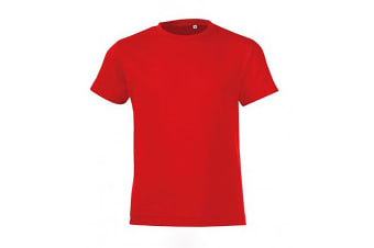 SOLS Childrens/Kids Regent Short Sleeve Fitted T-Shirt (Red) (2 Years)