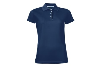 SOLS Womens/Ladies Performer Short Sleeve Pique Polo Shirt (French Navy)