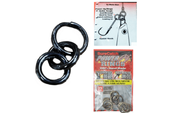 Surecatch Size 10 Stainless Power Jig Rings For Jig Assist Hooks - 5 Per Pack