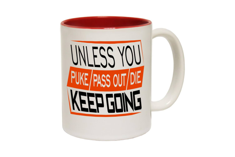 123T Funny Mugs - Unless Keepgoing - Red Coffee Cup