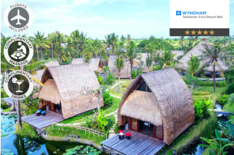 BALI: 5 Nights at Wyndham Tamansari Jivva Resort Bali Including Flights For Two