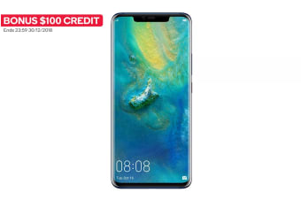 Huawei Mate20 Pro Dual SIM (128GB, Midnight Blue) + BONUS $100 Credit