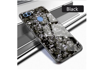 Shiny Seashell Pattern Tempered Glass Hard Back Cover Shell For Huawei Black P9