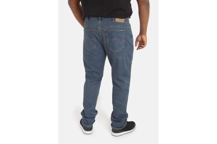 Duke Mens Rockford Kingsize Comfort Fit Jeans (Stonewash) (56L)