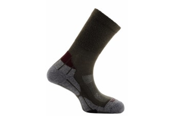 Horizon Unisex Coolmax Hiker Socks (Khaki/Grey/Bordeaux)