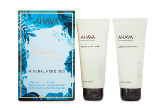 2pc Ahava Elements of Love 100ml Hand Moisturiser Cream Skin Care Dead Sea Water