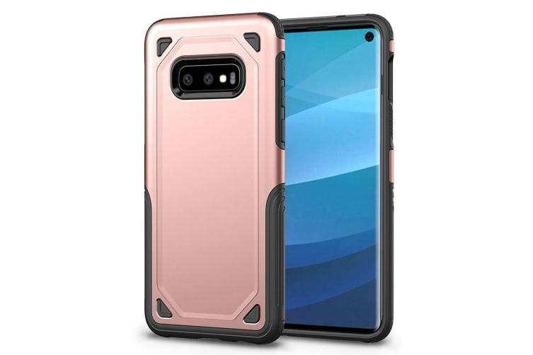 For Samsung Galaxy S10e Case  Rose Gold Shockproof Armour Hard Back Phone Cover