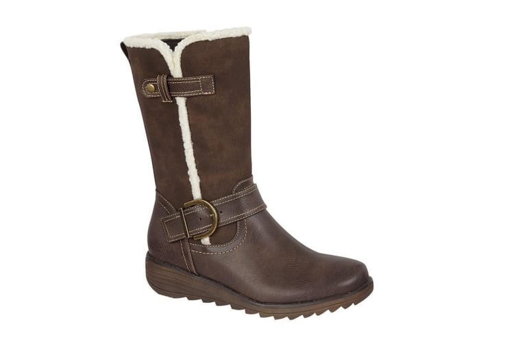 Cipriata Womens/Ladies Pamela Buckle Mid Calf Boot (Brown) (5 UK)