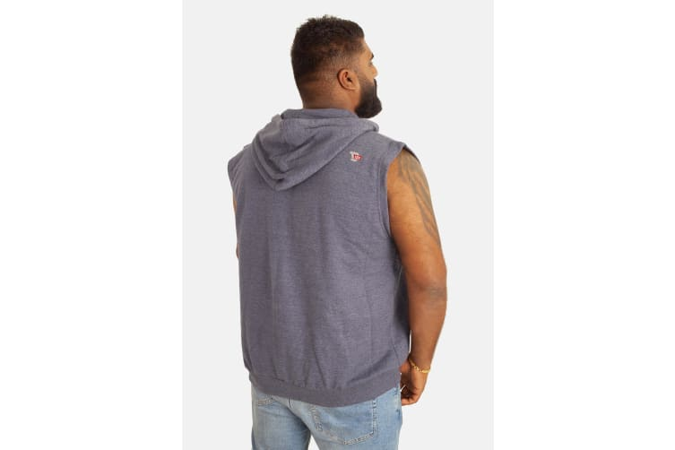 Duke Mens Blake Kingsize Sleeveless Hoody (Blue Melange) (5XL)