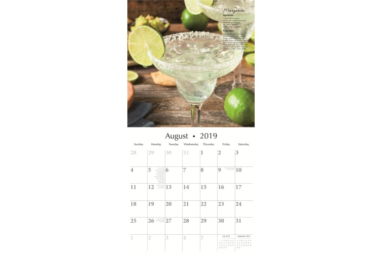 Cocktails - 2019 Premium Square Wall Calendar 16 Months New Year Christmas Gift