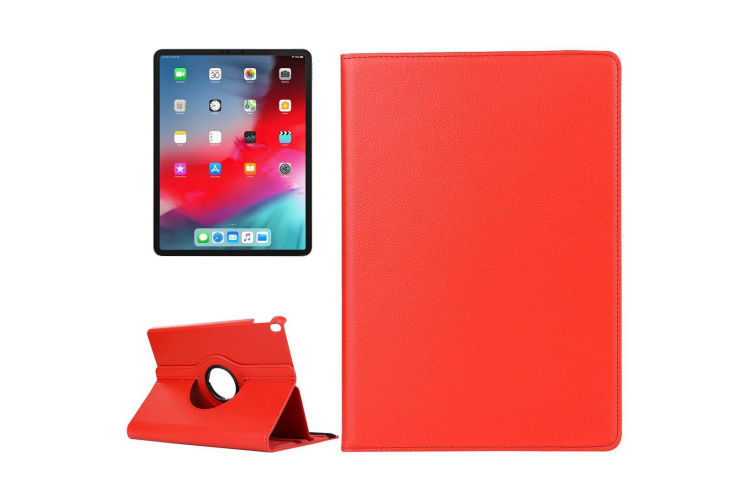 For iPad Pro 11 Inch (2018) Case Lychee Texture PU Leather Folio Cover Red