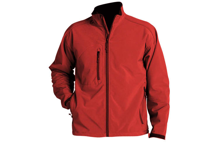 SOLS Mens Relax Soft Shell Jacket (Breathable  Windproof And Water Resistant) (Red) (S)