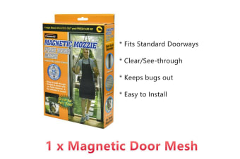 1 x Clear Magnetic Door Mesh Bug Insect Screen Curtain Net Mosquito Flies Auto