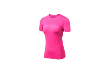 Women'S Compression Shirts Crewneck Short-Sleeve Athletic T-Shirts - Rose Red Red Xs