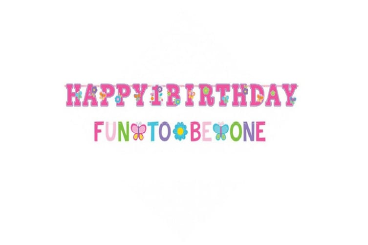 Amscan Jumbo Letter Banners Sweet Birthday Girl Combination Kit (Pink) (One Size)