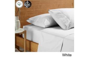 Vintage Washed Cotton Sheet Set White King Single