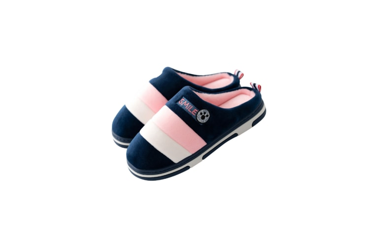 Cozy Memory Foam Slippers With Fuzzy Plush Wool-Like Lining - Pink Pink 35-36
